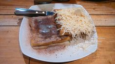 Roti panggang milo keju