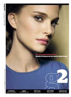 Guardian g2 cover: (the frankly incredible) Natalie Portman