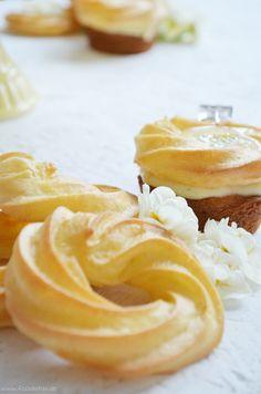 Saint Honoré Eierlikör Cupcakes mit Maracuja