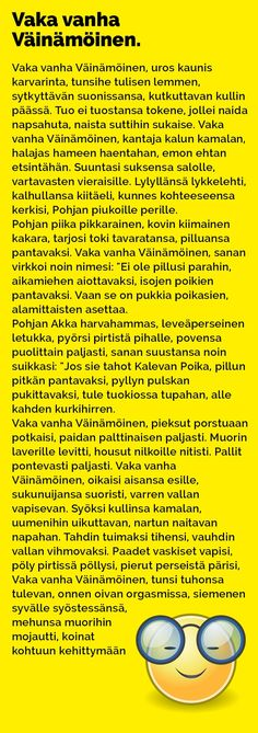 Vitsit: Vaka vanha Väinämöinen - Kohokohta.com
