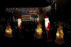 God Bless America! These impressive light displays honor the men and women who protect our freedom.