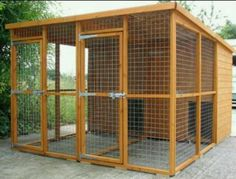 Outdoor dog kennel.