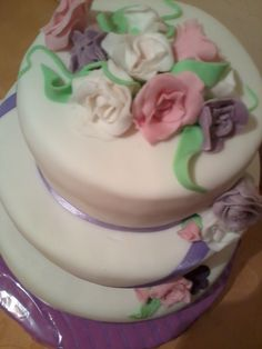 Торт в лиловых тонах