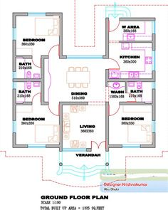 Free House Design, Home Map Design, House Floor Design, Home Design Images, Home Design Floor Plans, Simple House Design, Cool House Designs, Plan Design, House Floor Plans