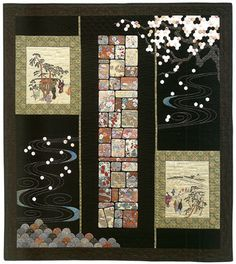 Scenes by a Garden Path by Kitty Pippen- Instead of appliqued ice, why not sashiko?
