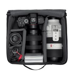 Don't let your camera gear rattle around in your bag. Place your possessions in the CIA, pad em' up and put your gear in check mate. Bike Bag, Passport Cover, Camera Gear, You Bag, Black, Black People, All Black