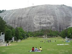 Stone Mountain, Georgia - visited in the late 80's, early 90's?  Saw the laser show and everything.