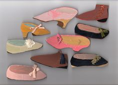 Cardboard and plywood antique shoes II. By Kahoko Sodeyama.
