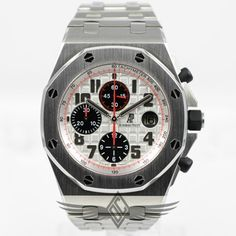 Audemars Piguet Royal Oak Offshore Stainless Steel Bracelet Panda Dial Chronograph Watch 26170ST.OO.1000ST.01 - #OCWatchCompany #WatchStore #WalnutCreek