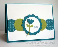 Julie's Stamping Spot -- Stampin' Up! Project Ideas Posted Daily: Stampin' Up! Mitten Builder Punch Flower Card Julie's Stamping Spot -- Stampin' Up! Project Ideas Posted Daily: Stampin' Up! Cricut Cards, Stampin Up Cards, Card Making Inspiration, Making Ideas, Karten Diy, Cute Cards, Easy Cards, Cards Diy, Card Sketches