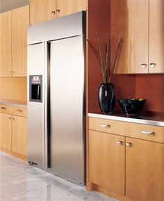 Refrigerators built in refrigerator and cabinets on pinterest for How to increase cabinet depth