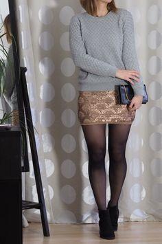 Weihnachts Outfit - ein Pailettenkleid stylen