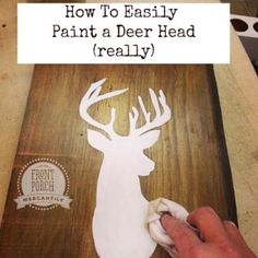 How to Easily Paint a Deer Head