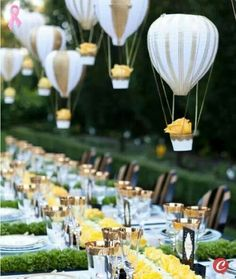 Baloon as decoration for centerpiece