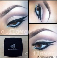 Purple eyeshadow & liner