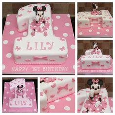 minnie mouse number one cake pink by Paramount Cakes, via Birthday Girl Meme, Birthday Wishes For Kids, Kids Birthday Themes, 1st Birthday Cakes, 1st Birthday Girls, First Birthday Parties, Number One Cake, Finding Nemo Cake, Minnie Mouse Cake