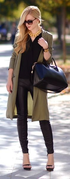 Khaki Lightweight Trench by Oh My Vogue