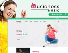 Musicness - The Mega Music Store Template Web Design, Music Sites, Ecommerce Website Design, Music Store, Pet Store, Website Template, New Work, Typography, Advice