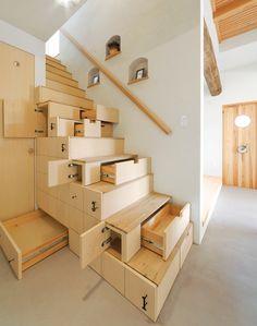 staircase cabinet http://diycozyhome.com/staircase-cabinet-design-by-kotaro-anzai/