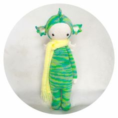 DIRK the dragon made by Natalya S. / crochet pattern by lalylala