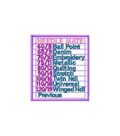 Free Needle Mate - Machine Embroidery file