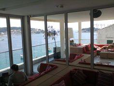 Public, Windows, Flooring, Sea, Interior Design, Beautiful Places, Nice Asses, Design Interiors, Home Interior Design