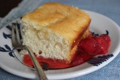 A pudding that's really a cake: 19th-century cottage pudding, from a recipe by Fannie Farmer.
