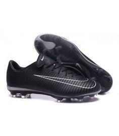 Acheter Nouvelles Chaussures Nike Mercurial Vapor 11 FG Noir Blanc pas cher en ligne 101,00€ sur http://cramponsdefootdiscount.com