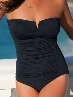 diNeila Brazil 2012: Black One Piece Bathing Suit Bandeau One Piece 1226011 | Swimwear Boutique