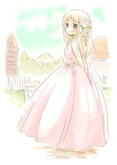 Claire with wedding dress~ Harvest Moon Btn, Harvest Moon Game, Moe Anime, Anime Art, Story Of Seasons, Rune Factory 4, Moon Photography, Landscape Photography, Moon Lovers
