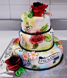 beautiful tattoo cake