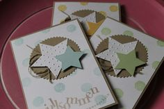 Stampin Up! Babykarte, Sterne, Work of Art, Alexandra Renke