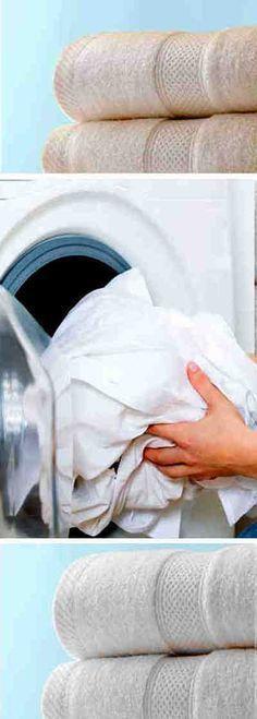 A partir de ahora tus toallas siempre estarán como nuevas e incluso mejores #lavar #blanquear #toallas
