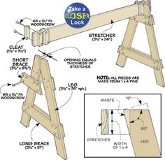 39 Free Sawhorse Plans in the Hunt for the Ultimate Sawhorse | I love sawhorses