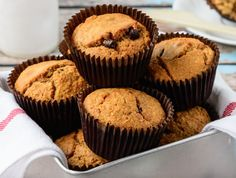 Read our delicious recipe for Chocolate Chip Muffins, a recipe from The Healthy . Read our delicious recipe for Chocolate Chip Muffins, a recipe from The Healthy Mummy, which is a s Choc Chip Muffins Recipe, Chocolate Chip Muffins, Chocolate Chip Recipes, Healthy Chocolate, Chocolate Chocolate, Delicious Chocolate, Healthy Mummy Recipes, Healthy Treats, Healthy Eating