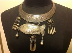 Vintage Hmong Thai Tribal Silver Metal Fish by junquetrunkseattle, $65.00