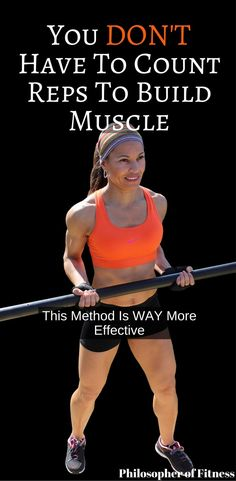 You don't have to count reps to build muscle! Listening to your body and using this method is way more effective! #repranges #buildmuscle #fitness #workout