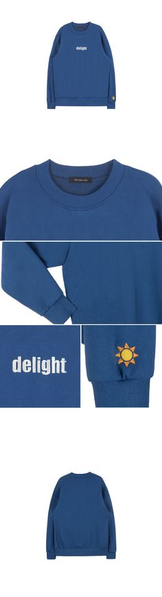HIDE AND SEEKEmbroidered Accent Sweatshirt|