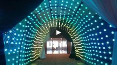 Inside Image Design's Pix Lite LED Tunnel made with 720 individually addressabale LED balls.