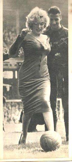 M. Monroe playing football http://wanelo.com/p/4016124/epic-soccer-training-skyrocket-your-soccer-skills