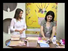Caixa Scrap - Artesã Marisa Magalhães - Aquarela Brasil Tintas - Parte 2/2 - YouTube