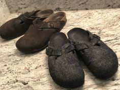 52b59af2399 Birkenstock Boston Clog LOT set of TWO size 40 wool and suede