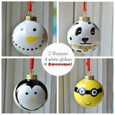 Nice~~sharpie ornaments!