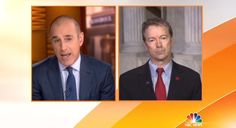 """To its credit, Wednesday's NBC Today actually brought on Republican Senator Rand Paul to react to Hillary Clinton's Tuesday press conference regarding the email scandal. However, co-host Matt Lauer used the second half of the interview to parrot Clinton's attacks on the GOP: """"...she talked about this open letter that you and forty-six other Republican senators wrote and then signed and sent off to the leaders of Iran during very delicate negotiations over this nuclear deal. She said that you…"""