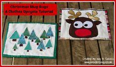 Creating my way to Success: Christmas Mug Rugs - a clothes upcycle tutorial!