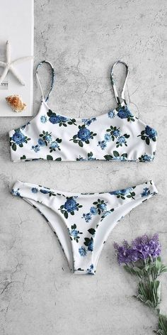 Cute floral Bikini Set Swimsuit to try - Swimsuits & Bikinis Floral Swimsuit Bikinis, Floral Bikini Set, White Bikinis, Swimwear, Beachwear, Summer Bathing Suits, Cute Bathing Suits, Summer Suits, Bikini Babes