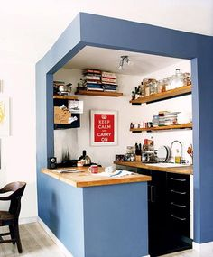 compact kitchen corner via the kitchn