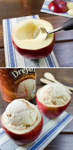 You will NEVER eat ice cream the same way again.... Yes, only I would bake the apple first with cinnamon and sugar and use vanilla ice frozen yogurt!!