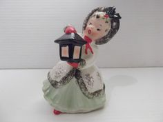 Vintage Napco Figurine Christmas Girl with by WildForVintage, $40.00