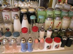 ♥ this collection of vintage S & P shakers